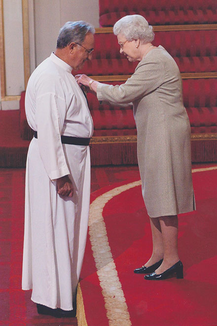 Fr Paul meets the Queen