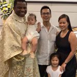 Tan Le's baptism at Easter