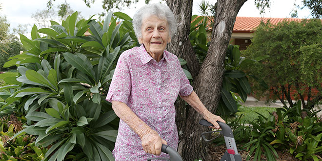 100-year-old Dorothy Nugent