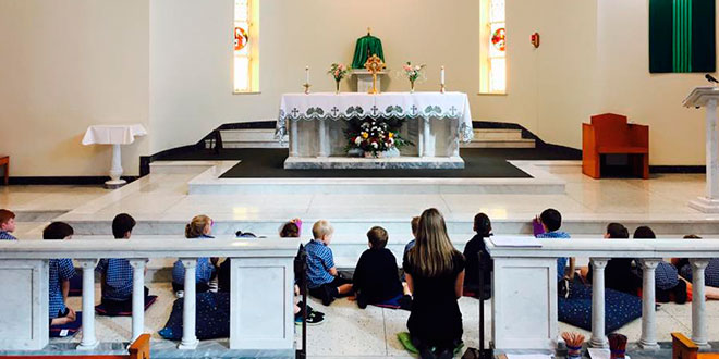 Eucharistic adoration at St Finbarr's