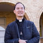 Legally blind priest Fr Francis Ching