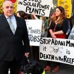 Peter Arndt at coalmine protest