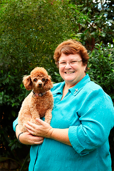 Sr Christine and her dog Lady Kenya