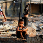 Poor child in Myanmar