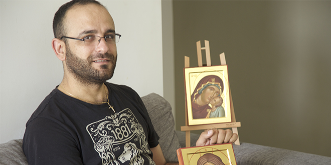 Brush with faith: Syrian refugee with a love for painting icons knows God is guiding his life