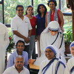 Catholics gather around Mother Teresa statue at Marian Valley