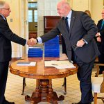 Justice Peter McClellan delivers Royal Commission final report to Peter Cosgrove