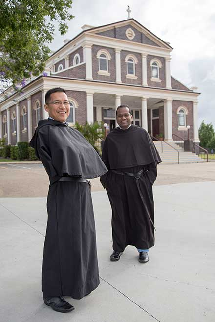 Deacon Dang Nguyen and Fr Jaison Nedumparambil