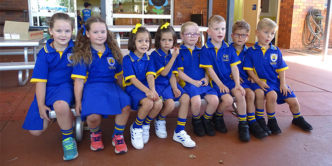 Four sets of twins from Mater Dei primary