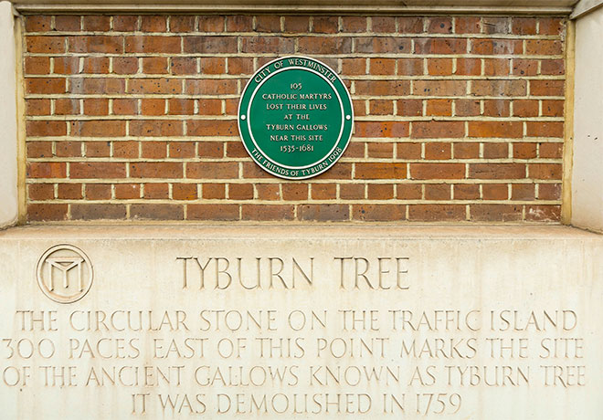 Tyburn Tree monument