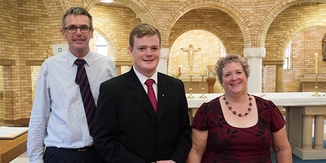 William Brennan with parents Paul and Monica