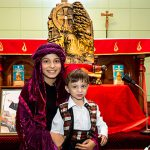 Children before St Maroun's relics