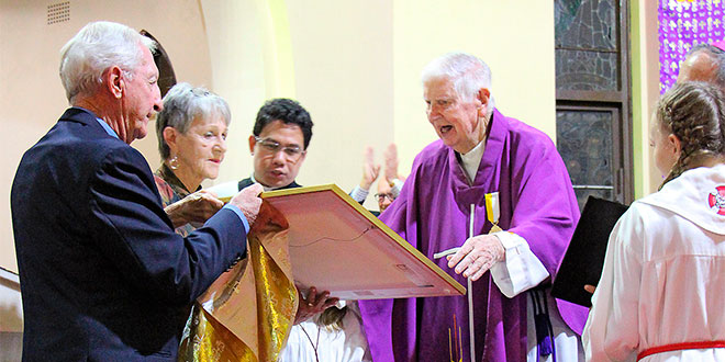 Fr D receives papal honour