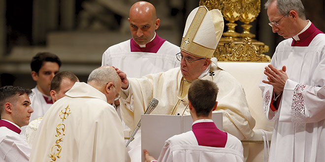 Pope ordains