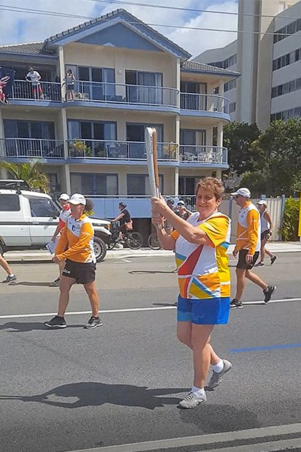 Robyn Hunt in the Queen's baton relay