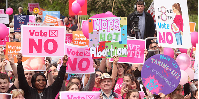 Abortion rally in Ireland