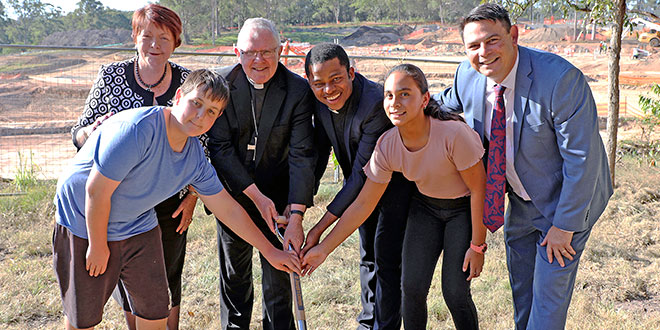 Coomera school site blessed