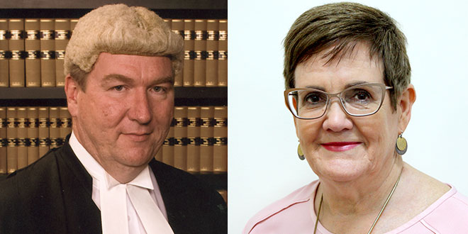 Justice Martin Daubney and Carmel Nash
