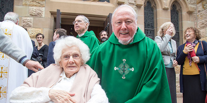 Fr Paul Rooney with his 100-year-old mother