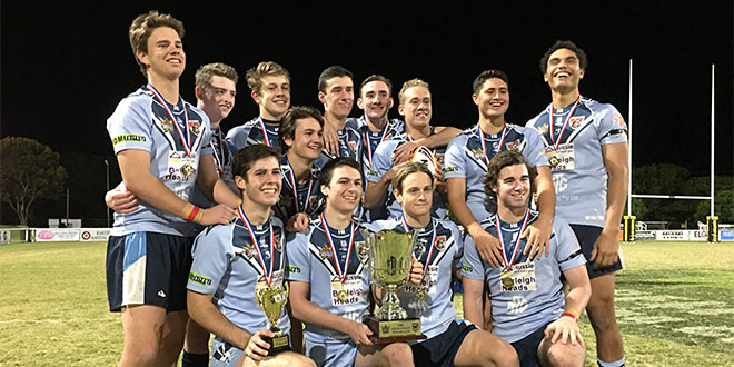 Marymount Makos team following Titans Cup victory