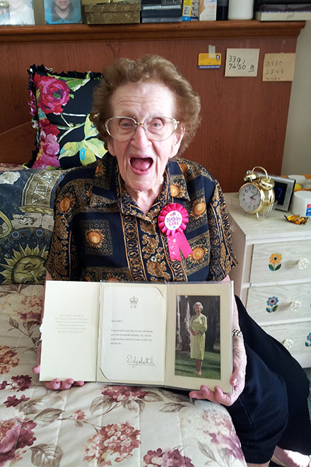 Ruby Duffell turns 100