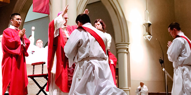 Archbishop's ordination blessing