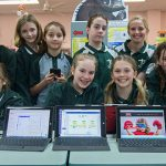 tech girls from St Bernard's Primary School, Upper Mt Gravatt
