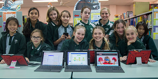 School girls use technology to make apps tackling low self-esteem in peers