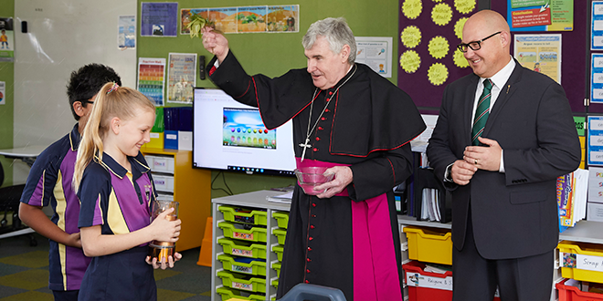 Bishop Foley blesses Cairns school classroom