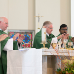 Concelebrants at the centenary Mass