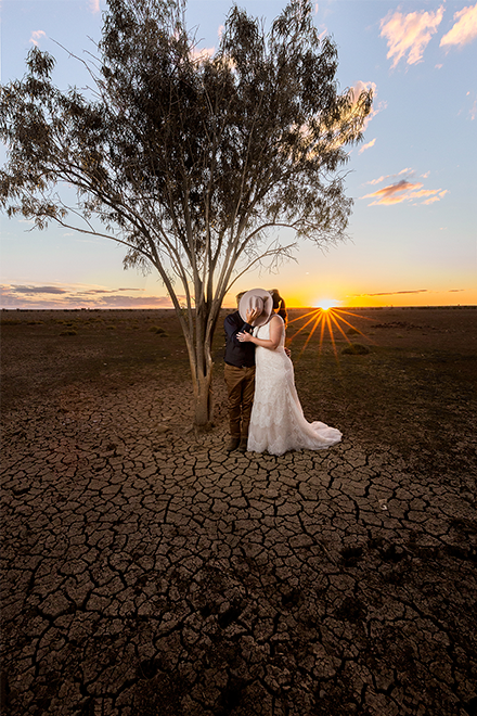 Wedding photos in the drought