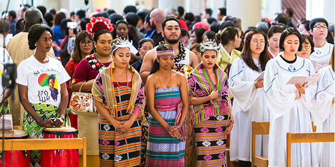 Multicultural Mass procession