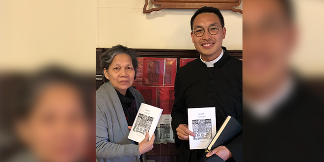 Br John Henry Newman of the Oratory and a Vietnamese parishioner