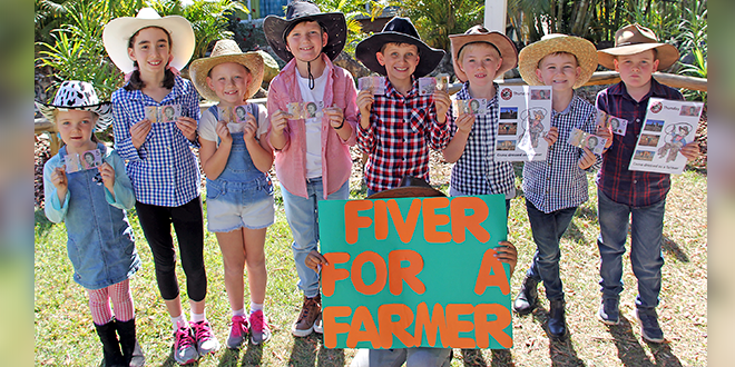 Fiver for a farmer at Albany Creek