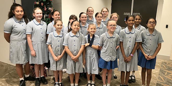 Good Shepherd Primary School's angelic choir brings tears to Mater patient's eyes