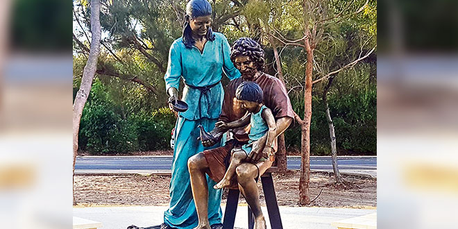Capturing the love and peace of the Holy Family in bronze, Gold Coast sculptor's labour of love