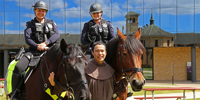 University welcomes dogs, cat, and even alpacas for the annual Franciscan animal blessing