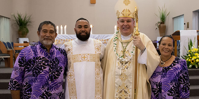 Future Townsville priest joins family to thank supporters in moving video