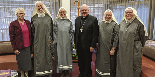 Sisters of Mary Morning Star with Archbishop Mark Coleridge