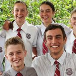 Proud grandmother waves off six grandchildren at Clairvaux MacKillop College