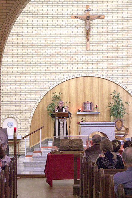 Fr Paul Maunder and the relics