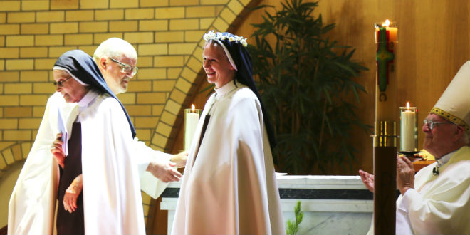 Sr Catherine Ann's profession of vows