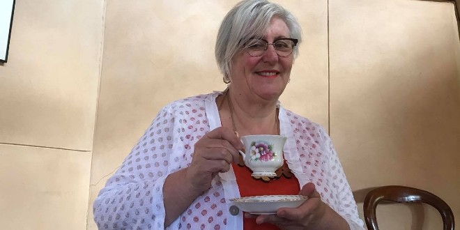 Clara Geoghegan is having virtual cups of tea with friends on video calls