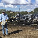 Fire destroys St Leo's Church at Haden, Fr Dave O'Connor manages to recover the tabernacle