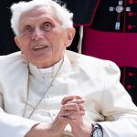 Pope Benedict returns to Vatican City after visiting his ill brother Msgr Georg Ratzinger in Germany