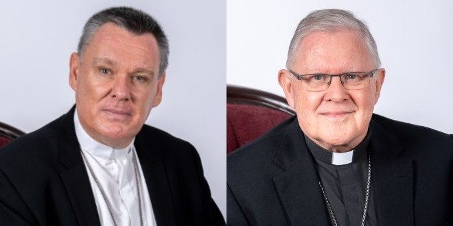 Bishop Tim Harris and Archbishop Mark Coleridge