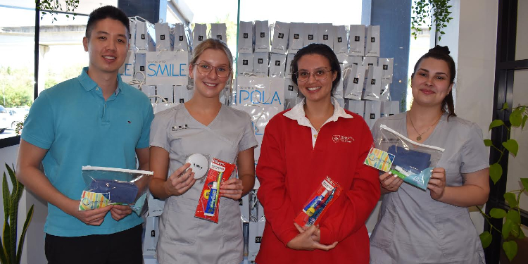 Support kits: More than 200 oral health care kits were supplied by Bella Verity and the Toombul Family Dental team.