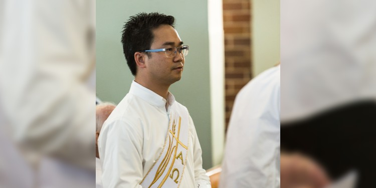 New priest: Fr Anh at his ordination on May 22.