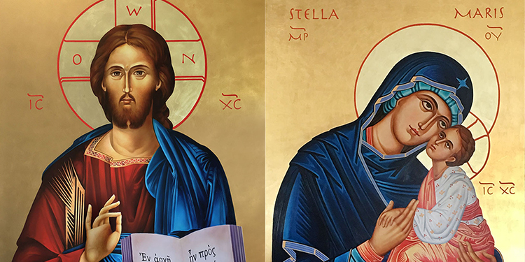 Icons: Lucy's favourite piece of sacred art were the icons she wrote for Stella Maris Church, Maroochydore.