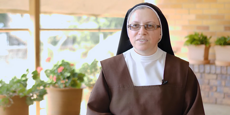 Country girl: When Sr Marie Tania first came to Ormiston, she had been concerned how small it was. But she came to see the beauty of the monastery.